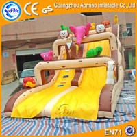 Animals inflatable crazy penguin party slide, kids slide inflatable dolphin water slide