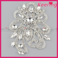 fashion crystal diamond embellishment for bridal sash WRE-136