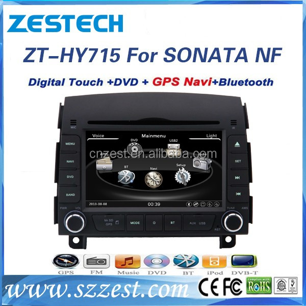 wince 6.0 800*480 Digital screen car media player for Hyundai Sonata NF 7 generation 2006 2007 2 din car radio player GPS DVD BT