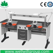 WWG-DS180 Factory Price Dental Lab Bench With 2PCS STRONG SUCTION UNIT