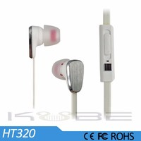 2015 New products high quality metal stereo earphone with mic and volume remote