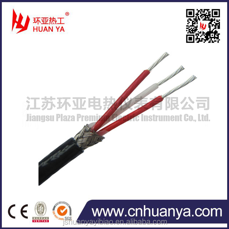 pt100 3 core stainless steel insulated rtd cable