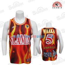 High quality sublimation mens basketball jerseys/basketball tops/basketball shirt and