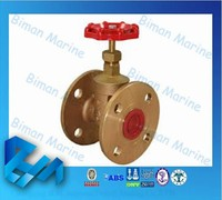 Marine 150/200 PSI Cast Iron Gate Valve with Rubber Seat