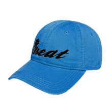 6 Panel 3D Embroidery Strap Adjuster Mens Blue Baseball Caps