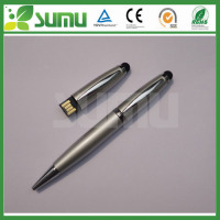 wholesale 3 in 1 100pcs 8G with 1 LOGO on 1 position print screen touch usb ball pen drive