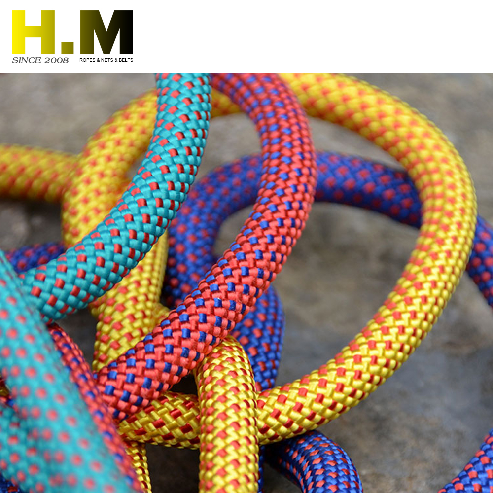 Moutain safety rope in military rock climbing braided nylon ropes