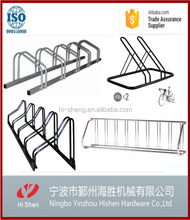 High Quality 5 Bike Standing Rack In Public , Galvanized Bicycle Parking Stand, Bike Bicycle Floor Parking Rack