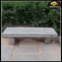 headstone with bench granite stone