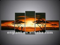 Good quality oil painting african scenery on canvas