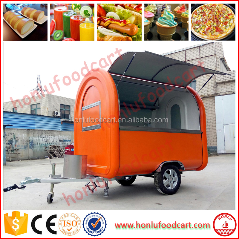 Durable tricycle hot dog cart Burger Vending Trailer For Sale
