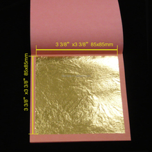 High quality factory price 24k genuine gold leaf 85x85mm
