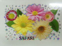 Flower Design Silver Reflective Heat Transfer printing label