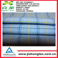2014hot sale colourful check TR fabric for shirt making Poly/Rayon