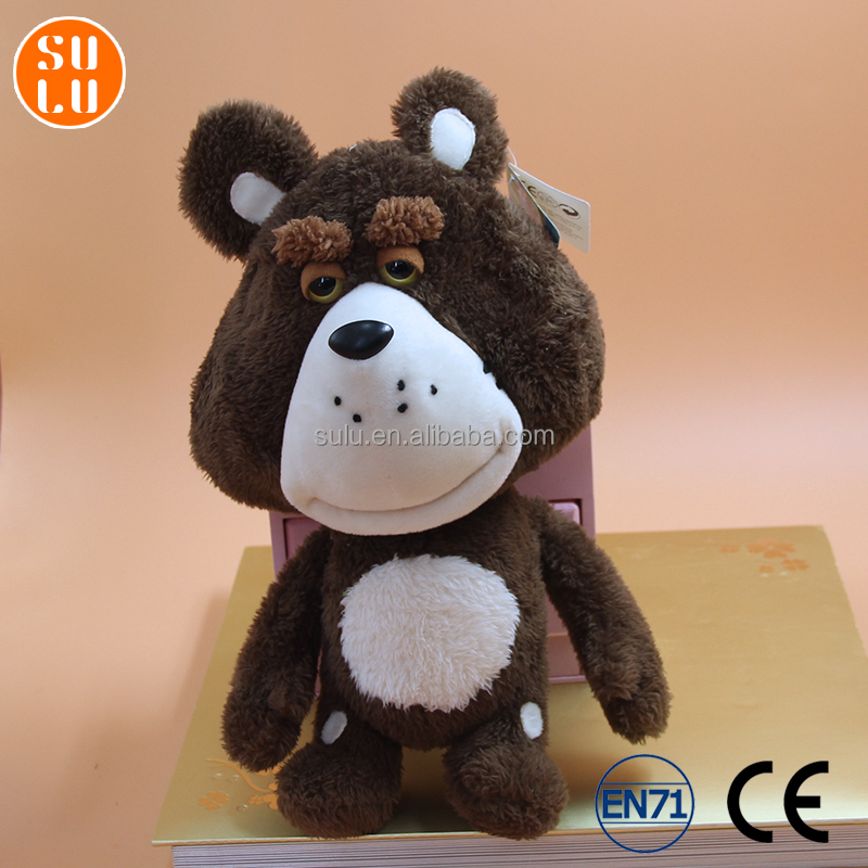 customized cartoon dog shape plush toy /stuffed cute animal doll