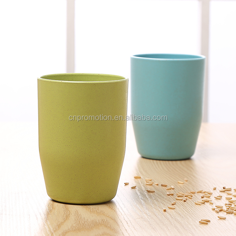 Classical Shape drinking cup custom eco-friendly wheat straw cup tooth brush cup