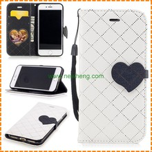 Fashion Rhombic Lattice Stand Leather wallet cell phone Case for iPhone 7 Plus
