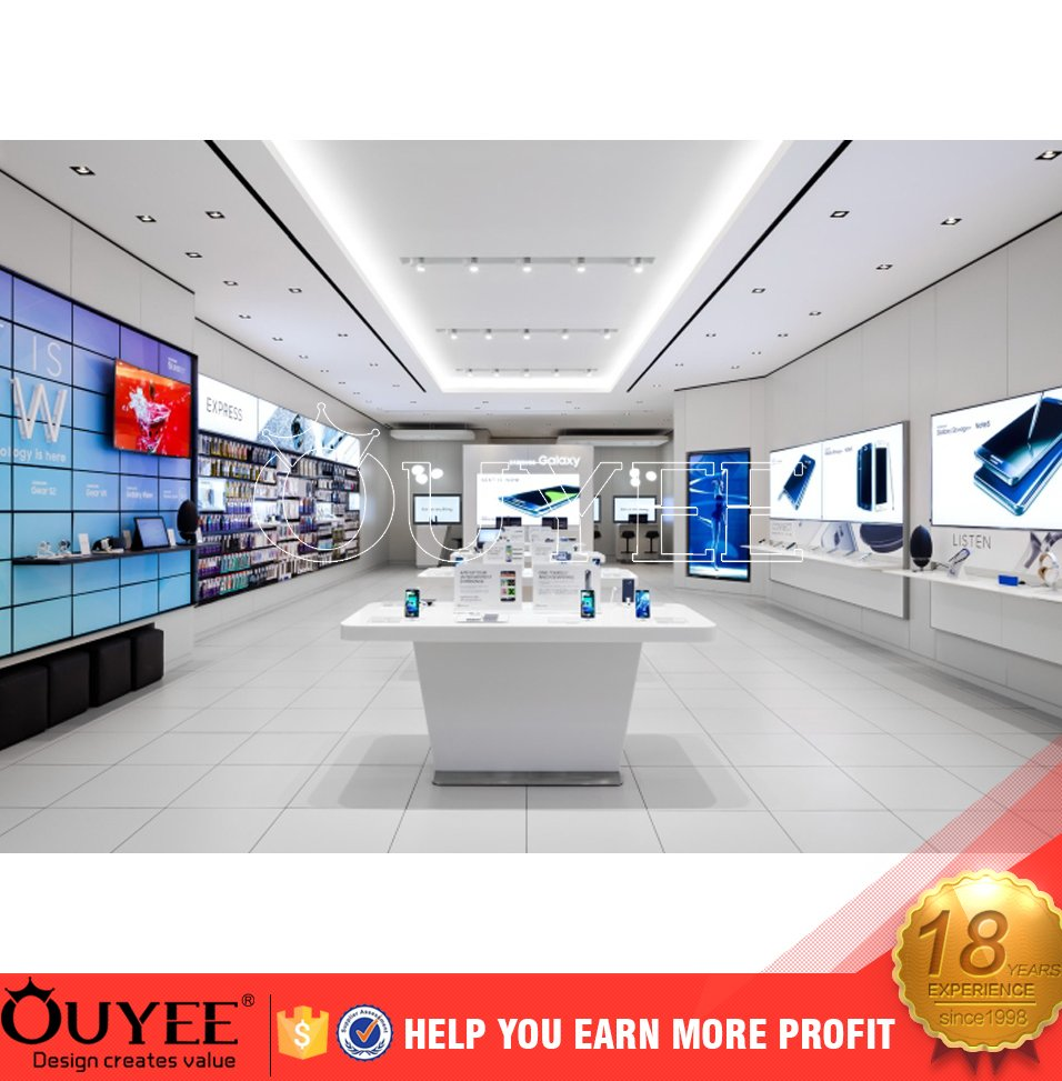 Online retail store mobile phone shop interior design for store design