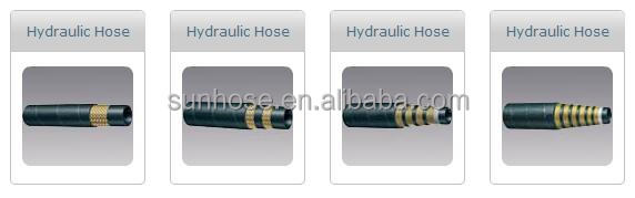 Cloth Cover Two Wire Braided Layers Rubber Hydraulic Hose 2SC