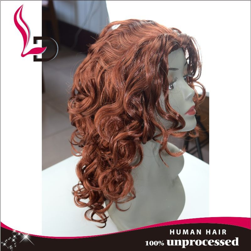 party wearing female wine red european hair wig