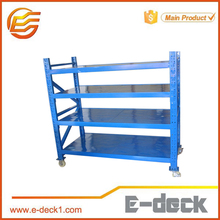 Warehouse racks movable sheet metal storage rack metal rack with wheels