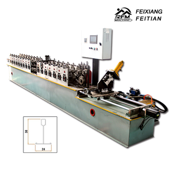 Galvanized steel ceiling t gird light keel roll forming machine making equipments