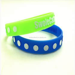 Fundraising silicone rubber bracelet
