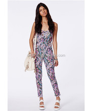 Paisley Print Sleeveless Jumpsuits For Women 2014