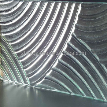 Tempered ultra white patterned fused glass panel