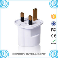 Best selling nickel plating Fully Brass 3 square pin germany to uk plug socket