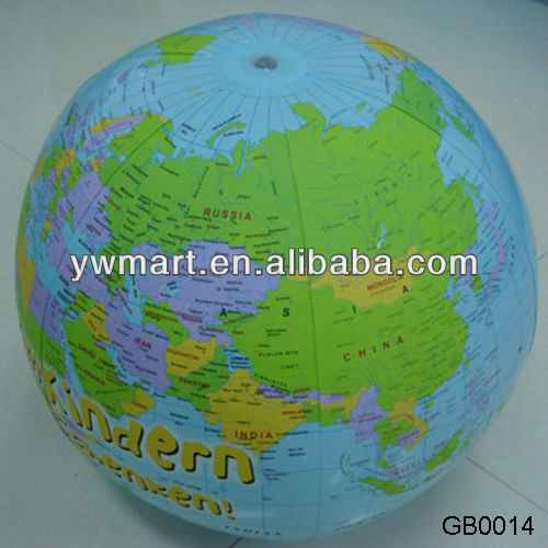 PVC inflatable glow earth beach ball