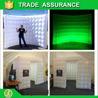 free ship 2pcs 9.8ft inflatable photobooth backdrop and wall for wedding decoration