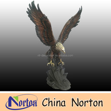 mountain home flying animal Bronze eagle sculptures NTBH-D135