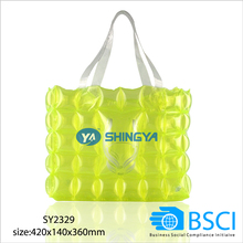 eco inflatable PVC hand bag inflatable bubble bag inflatable hand bag