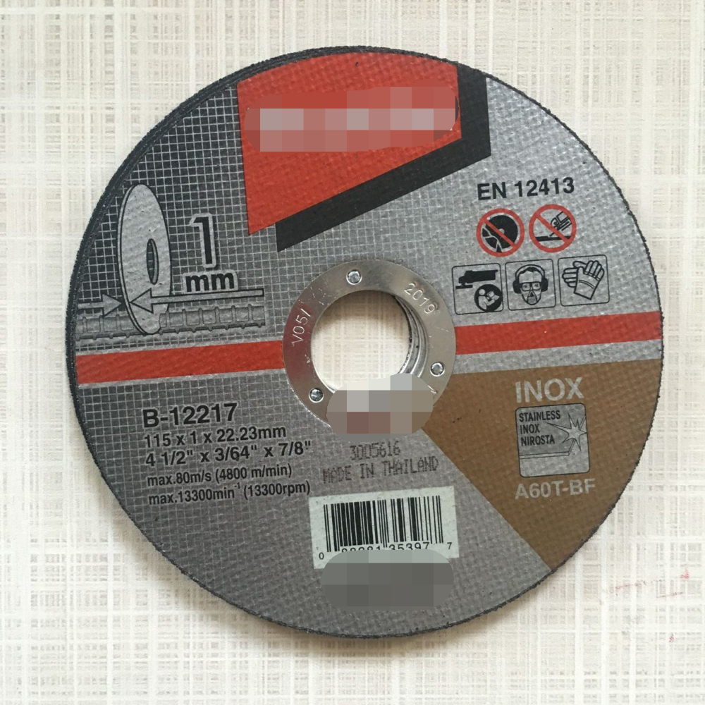 super thin abrasive cutter off disc for metal