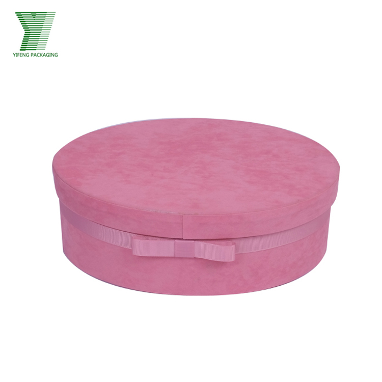 Pink Round Tube Jewelry Fabric Box Custom Logo Printed Gift Box Round Paper Jewelry Gift Boxes Wholesale With Bow Knot Buy Jewelry Gift Box Jewelry