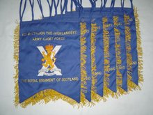 Geoffrey | The Royal Regt of Scotland Hand Embroidered GHB Great Highland Bagpipe Banner