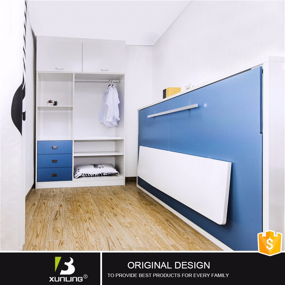 New Design Double Size Wall Bed Convertible Folder Side Bed