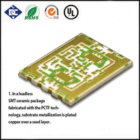 Multilayer ceramics pcb with 4 layers,professional pcb factory
