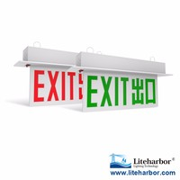 Exit signs single sided ceiling white LED lighting 5100k-5500k with ETL UL listed