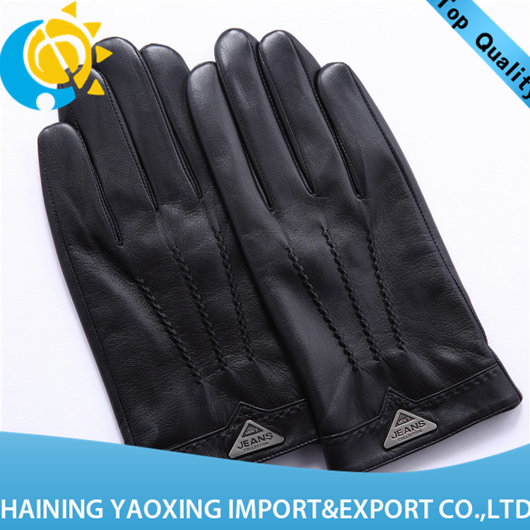 High quality goatskin leather gloves mens next wholesale