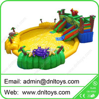 0.55mm PVC giant park inflatable water slide for kid and adult