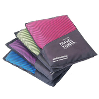 Free Sample Wholesale Microfiber Travel Towel with Pockets for Camping,Beach,Swimming and other sports