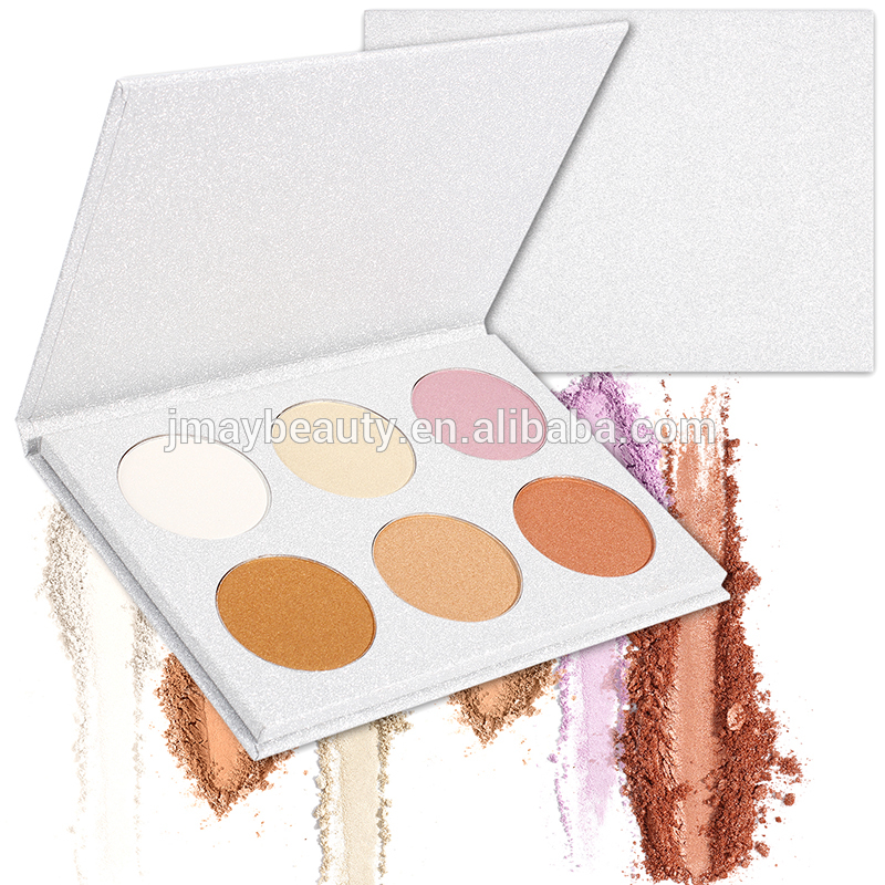 Wholesale private lable makeup golden shade contour glow kit 6 colors brighten bronzer and highlighter shimmer matte <strong>face</strong> powder