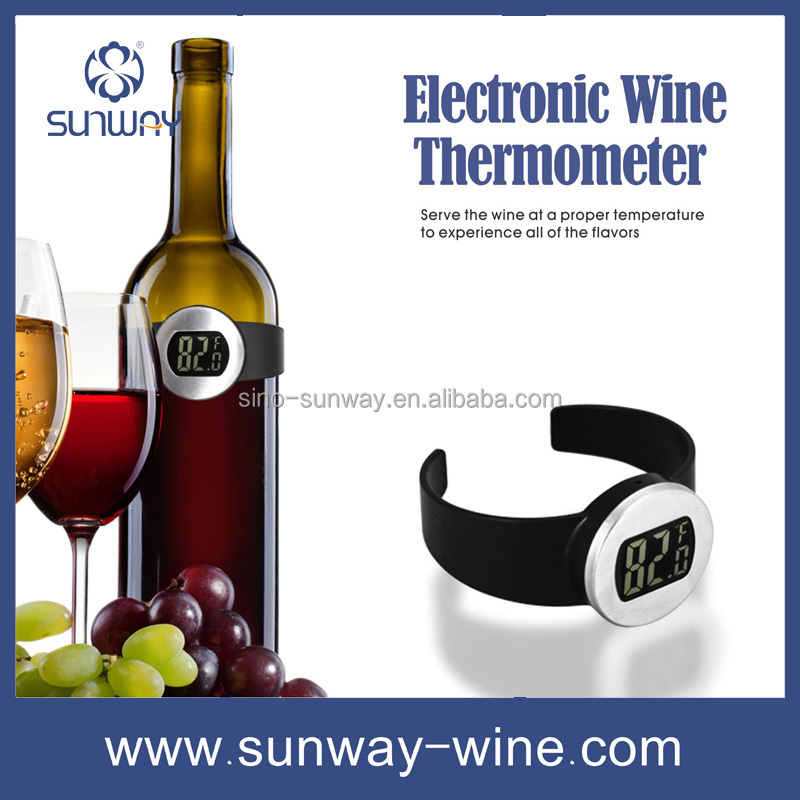 Stainless Electric Red Wine Bottle Digital Thermometer Temperature Meter