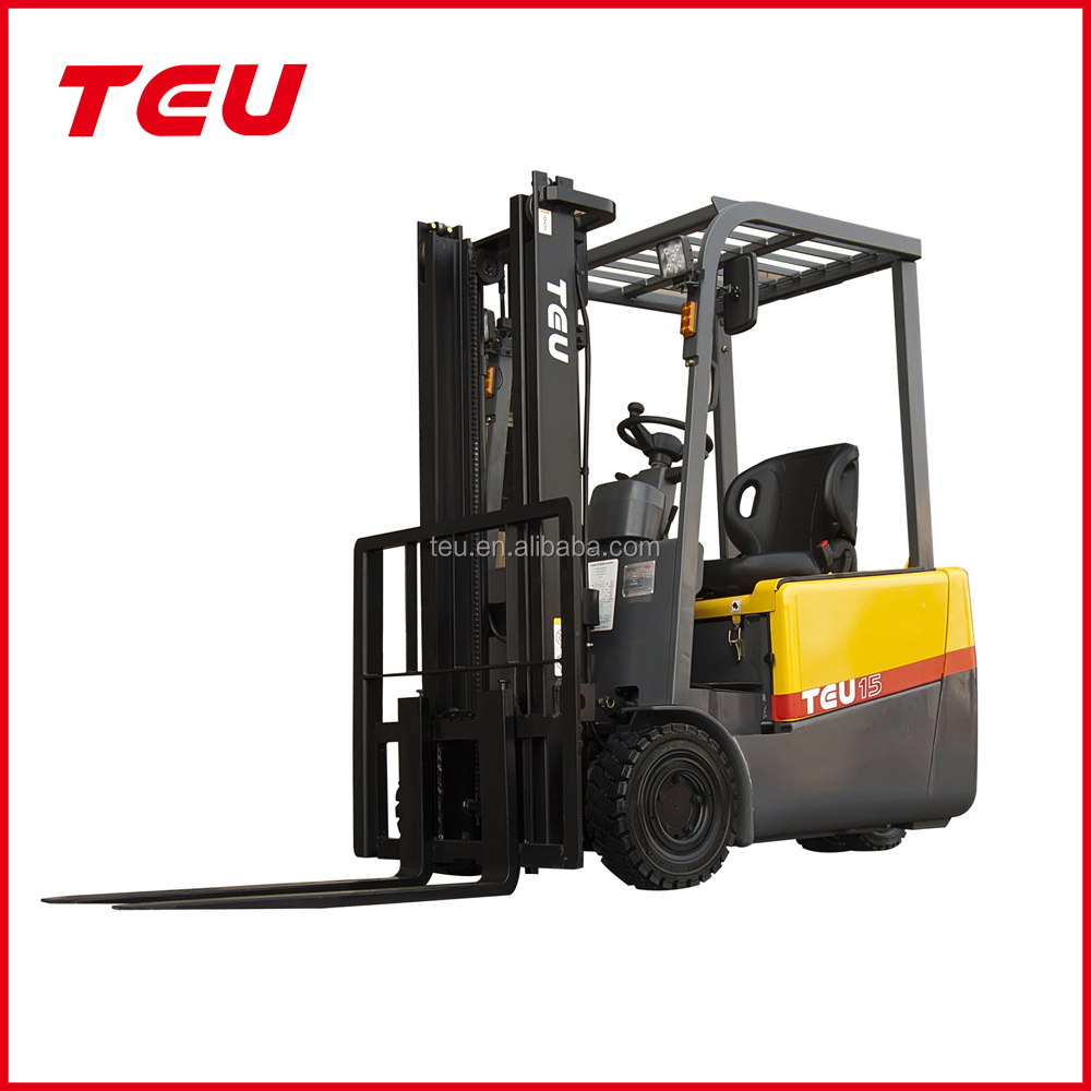 China TEU 3 wheels Electric Fork Lift Truck high quality