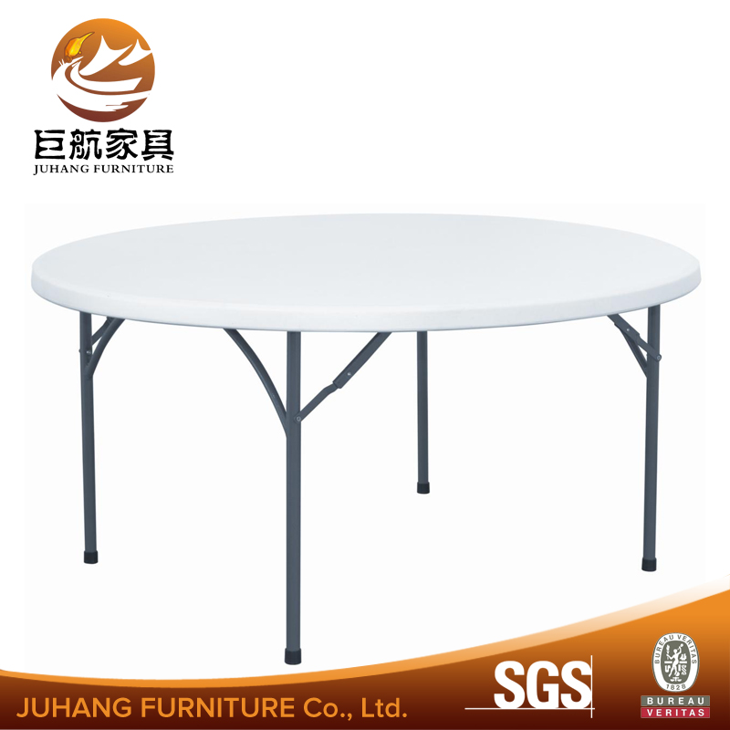 small portable round folding plastic outdoor dining table