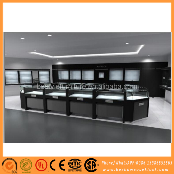 2016 Fashion jewellery store fixtures jewelry showcase manufacturers