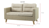 Contemporary Lifestyle Wicker Outdoor Sofa Furniture