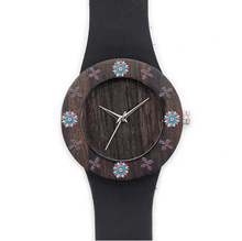 Best quality vogue design ebony ladies wholesale cheap price wood watch with your logo
